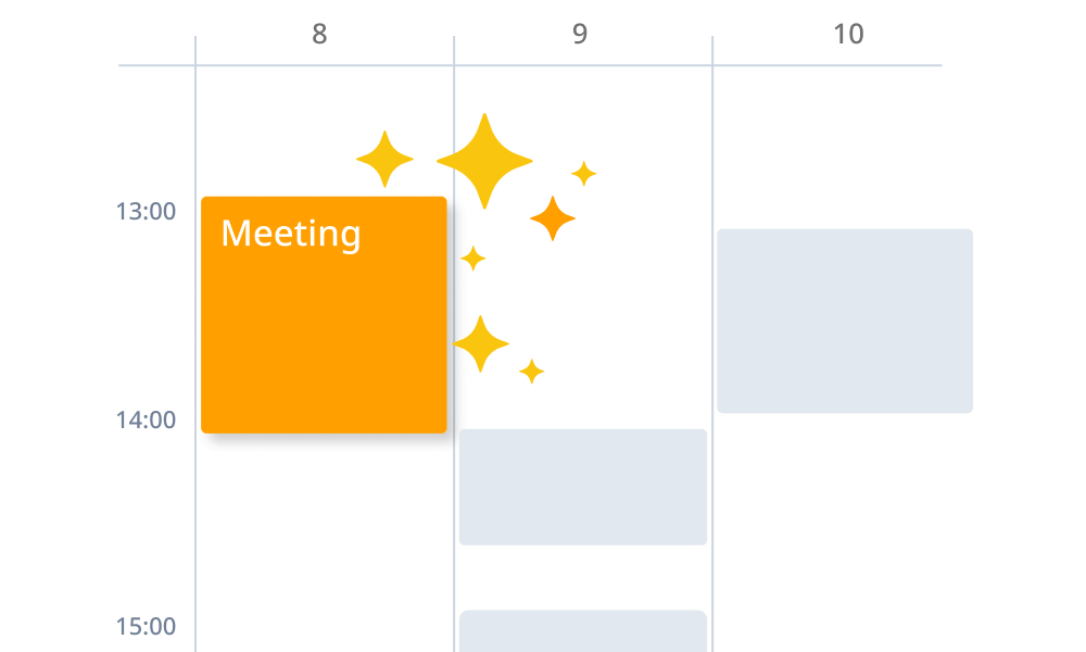 Automatically register appointments in calendar when schedule adjustment is completed