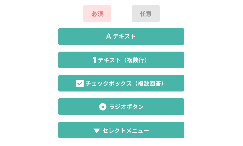 Flexible input formats such as checkboxes and radio buttons