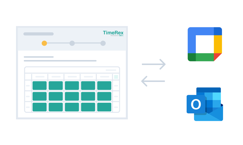 Automatically list schedule candidates in cooperation with Google Calendar / Outlook calendar