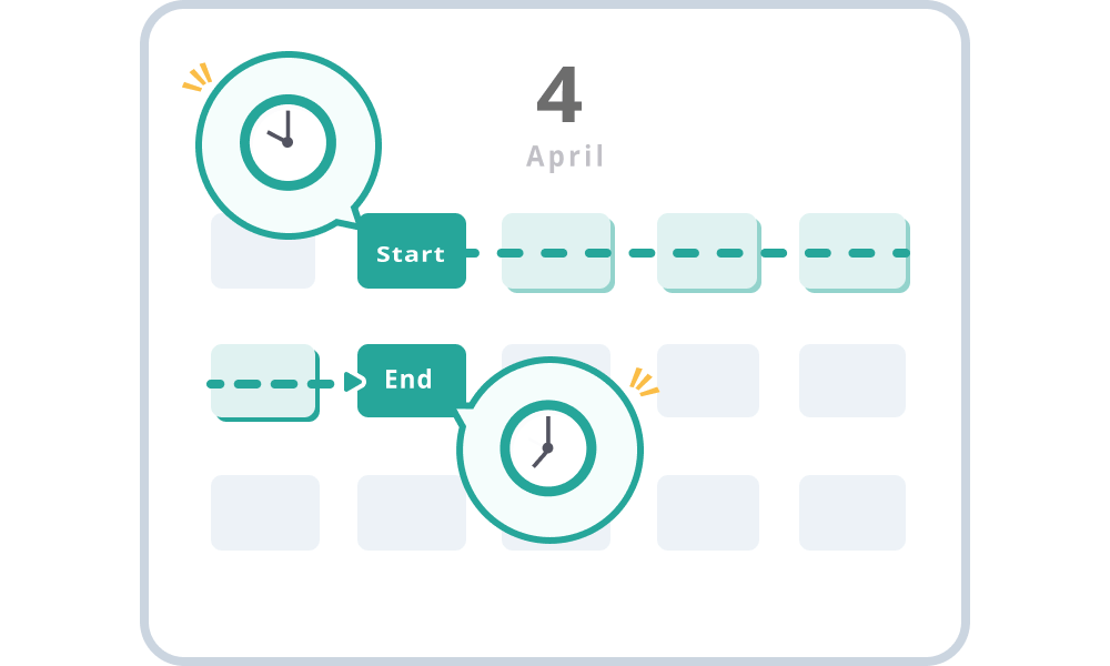 Flexible setting of the period to be displayed as a schedule candidate