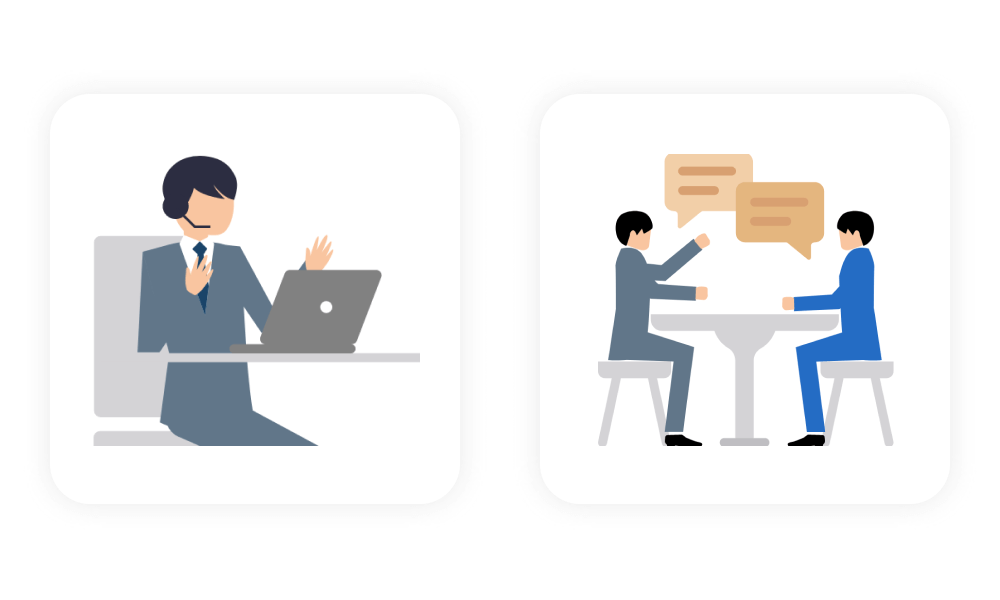 Perfect for customer support and negotiation scheduling
