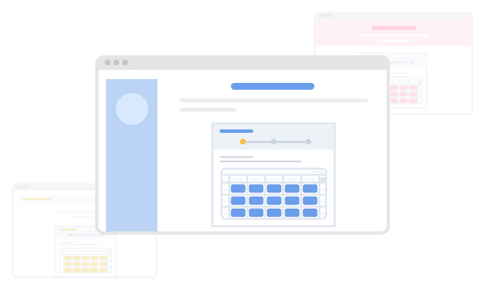Customize the design to suit your site by changing the key color and hiding the logo